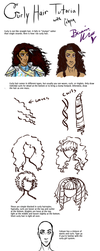 Curly Hair Tutorial by Snowy-Dragoness
