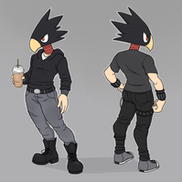 fumikage tokoyami by YellowHellion