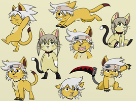 Soul Kitty plus Maka by ItsTaylor-Made