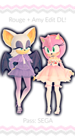 Amy and Rouge Model Edit DL by RoseKitten-Animation