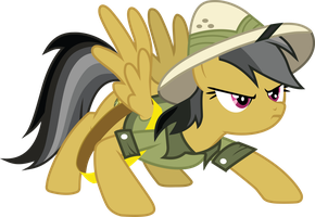 Daring Do Braces for Action by SNX11