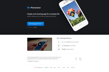 Product page template for iPhone app 2 by alesnesetril