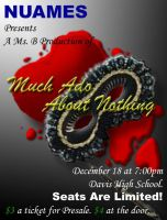 Much Ado About Nothing Play Poster by xanidubia