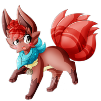 [Art Trade] .:Laiba the Vulpix:. by XRed-moon