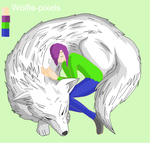 Meh and meh wolf. by lennlandry