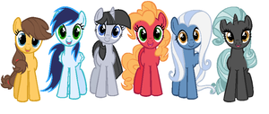 Mane 6 as TMOF by nalaaashy
