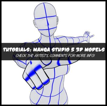 Tutorials: Manga Studio 5 3D Models by Shrineheart