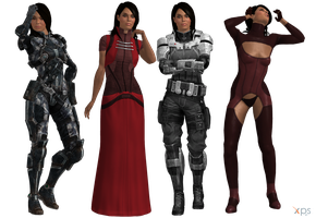 ME3 Ashley Outfits (XPS) by SonYume