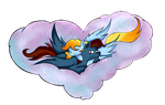 Cuddling in clouds by catname