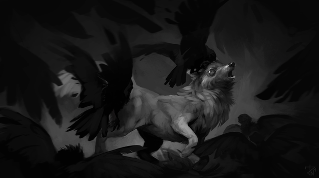 Birds are going to bit fox by deathnear