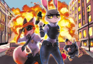 ZYPD: Judy the Badass by JerkArts