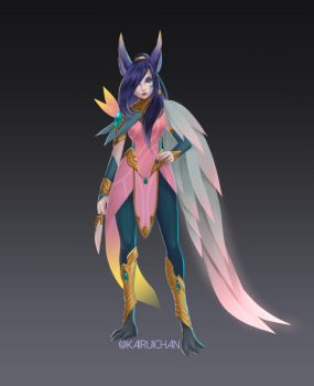 Order of the Lotus Xayah [Unofficial Concept] by Kairui-chan