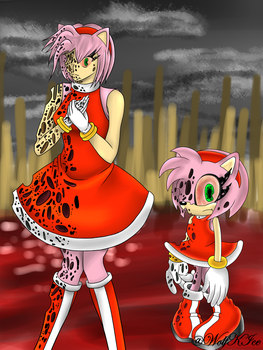 Amy Rose.exe - 2 by WolfKIce