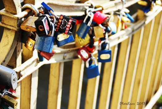 The padlocks of love by PhotoLaura