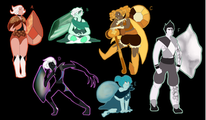 Mystery Gem Adopts (CLOSED) by MysticHatterCat