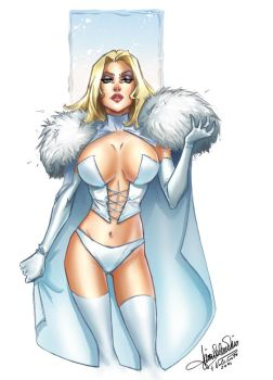 Emma Frost Coloring by VPdessin