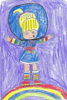 Rainbow Brite standing on a rainbow by dth1971