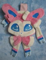 Sylveon plush pouch by aSourLemon