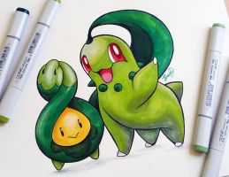 Budew and Chikorita