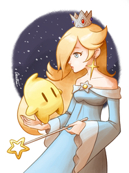 Super Mario Galaxy - Rosalina and Luma by Aeridis