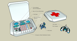 Med Kits and Mini Drones by Misone