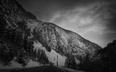 Canyon Runs in Winter by Enkphoto