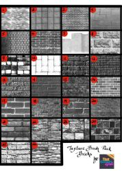 Texture Brush Pack - Brick by TGG by Lree