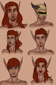 Bloodthorn Family - Coloured by Ammeg88