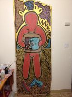 Collaborative Ode to Keith Haring by Rebate-BrainVomit