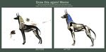 Before-After, Egyptian Dog by ellianounoursblanc