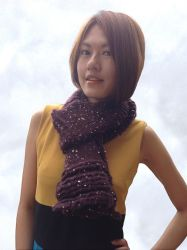 Ruffle Wave Beginner Scarf by AmareeLis
