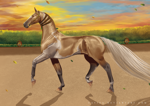 Yellow skies and golden gear by Catiza