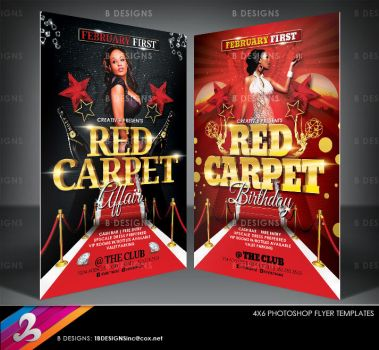 Red Carpet Party Flyer Templates by AnotherBcreation