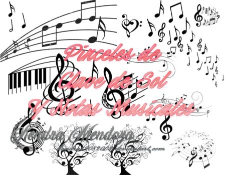Pinceles de Notas Musicales /Musical Notes Brushes by kendra19082002