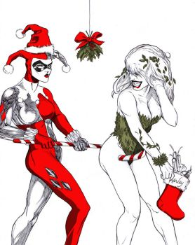 Gotham City Christmas at Spitballin' by G-Spot1