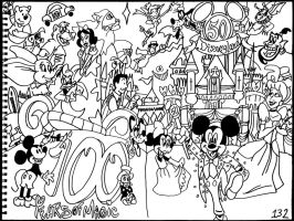 100 Years of Magic, Disneyland's 50th Anniversary by AverageJoeArtwork