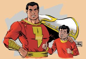 SHAZAM! doodle In color by RougeDK