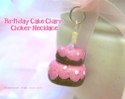Little Birthday Cake Charm by xlilbabydragonx