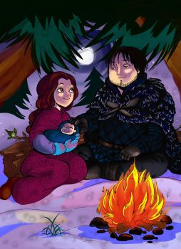Samwell Tarly y Gilly fuego by Jeupe