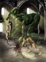 Conan vs. Cthulhu by ravenofsorrows
