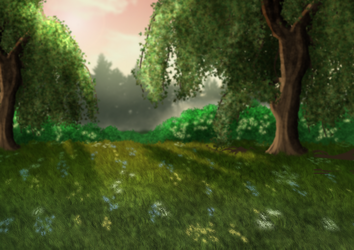 Free Forest Clearing BG by SweetLittleVampire