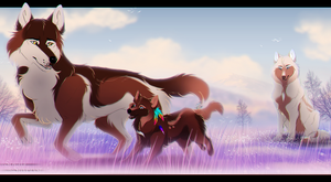 WoLF:. Let's see who arrives first. by Soyala-Silveryst