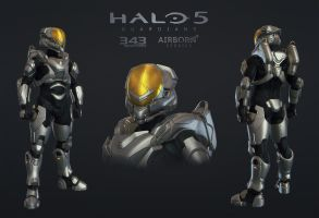Halo 5 Multiplayer Armor Freebooter by polyphobia3d