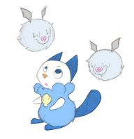 Oshawott and woobats