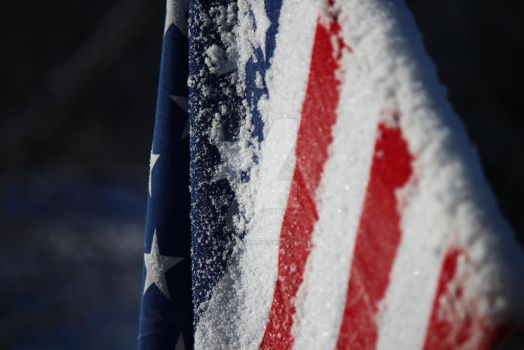 America Covered in Snow by KristaBell8