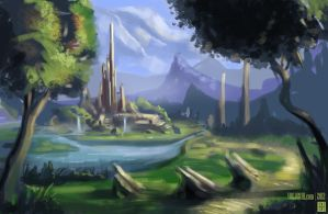 Landscape from Livestream by YogFingers
