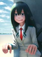 Tsuyu Asui [Boku no hero academia] fan art by Apegrixs