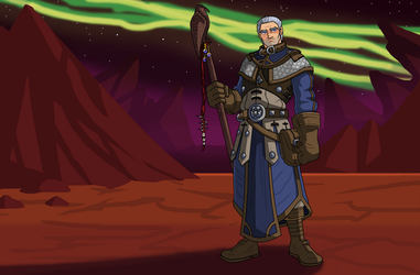 Archmage Khadgar on Draenor by DrahcirStormclaw