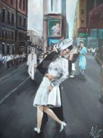 Vj Day in new york by Tony-Lewis-artwork