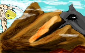 Battle of the Century- Horn Guy vs. Mountain Whale by oisillonbrulant